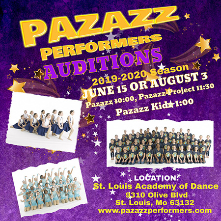 Pazazz Performers Audition Info
